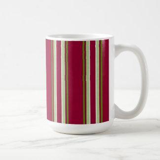 Christmas Stripes Coffee Mugs
