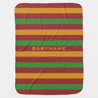 Christmas Stripes custom baby blanket