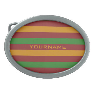 Christmas Stripes custom belt buckles