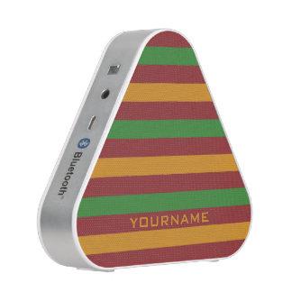 Christmas Stripes custom bluetooth speaker