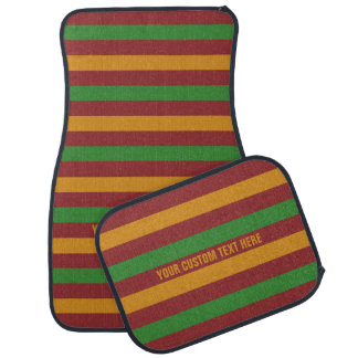 Christmas Stripes custom car floor mats