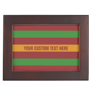 Christmas Stripes custom keepsake box