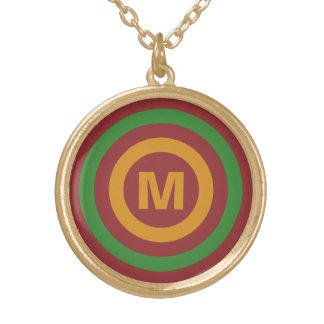 Christmas Stripes custom monogram necklaces
