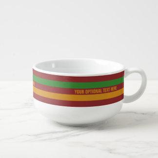 Christmas Stripes custom soup mug