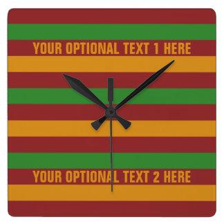 Christmas Stripes custom wall clock