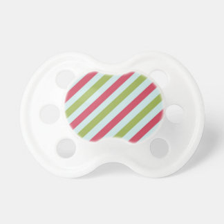Christmas Stripes Baby Pacifiers