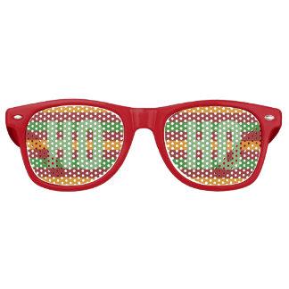 "Christmas Stripes ""HO HO"" party shades"
