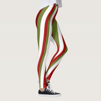 Christmas Stripes Leggings
