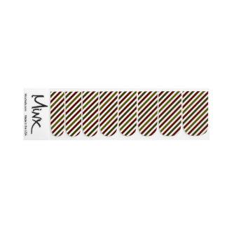 Christmas Stripes Minx Nail Coverings Minx Nail Art