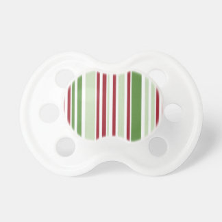 Christmas Stripes Pattern BooginHead Pacifier