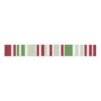 Christmas Stripes Pattern Grosgrain Ribbon