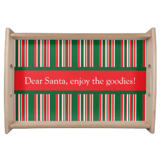 Christmas Stripes Serving Tray