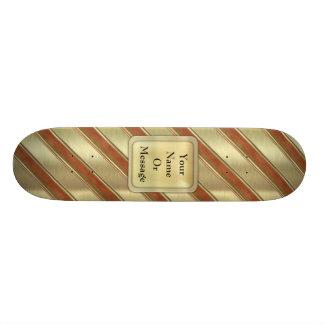 Christmas Stripes Skate Board