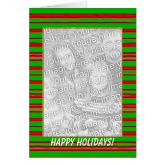 Christmas Stripes (tall photo frame) Card