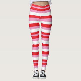 Christmas Stripes Women's Leggings