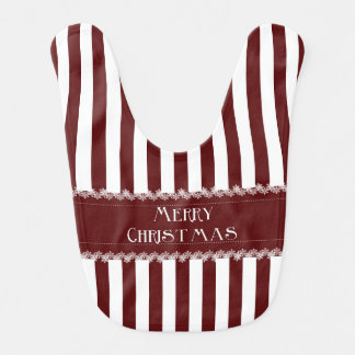 Christmas Stripes Baby Bibs