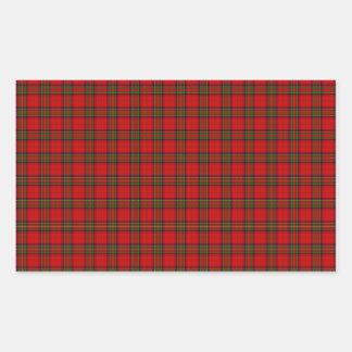 Christmas Stuart Tartan Rectangular Sticker