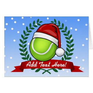 Christmas Style Tennis Ball Card