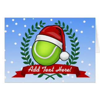 Christmas Style Tennis Ball Greeting Card