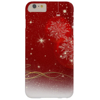 Christmas Stylish Shiny Glitter Sparkles Ornaments Barely There iPhone 6 Plus Case