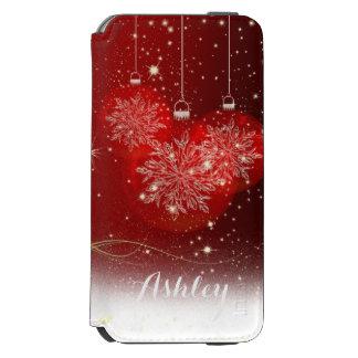Christmas Stylish Shiny Glitter Sparkles Ornaments Incipio Watson™ iPhone 6 Wallet Case