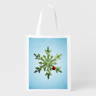 Christmas Stylish Snowy Pine Snowflake