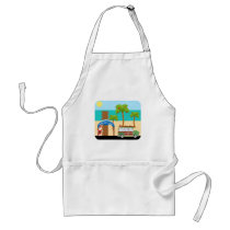 Christmas Surfing Cartoon Standard Apron