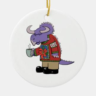 Christmas Sweater Dinosaur Ornament