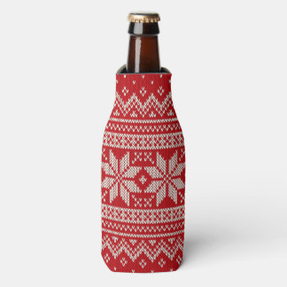 Christmas Sweater Knitting Pattern - RED Bottle Cooler