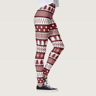 Christmas sweater pattern Holiday leggings