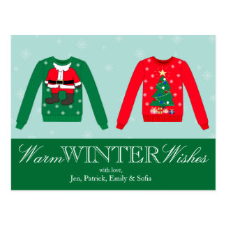 Christmas Sweater Postcard