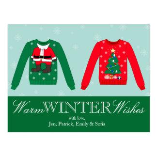 Christmas Sweater Postcard