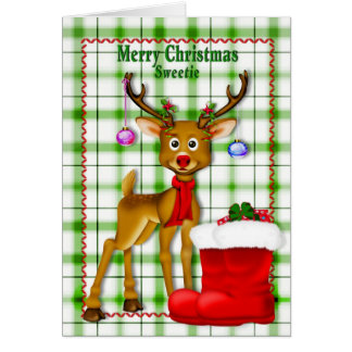 CHRISTMAS - SWEETIE - CHILD GREETING CARD
