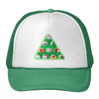 Christmas Symbols Mesh Hats