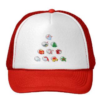 Christmas Symbols Trucker Hats