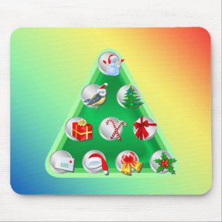 Christmas Symbols Mouse Pad