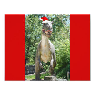 Christmas T-Rex Dinosaur 11 Cm X 14 Cm Invitation Card