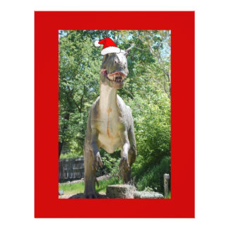 Christmas T-Rex Dinosaur Flyers