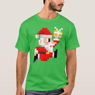 Christmas T-shirt: 8-Bit Santa Claus T-Shirt