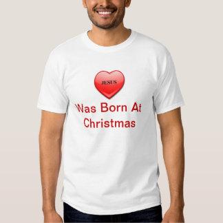 Christmas T Shirt - Love Was Born At Christmas