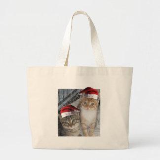 Christmas Tabby Kittens Bags