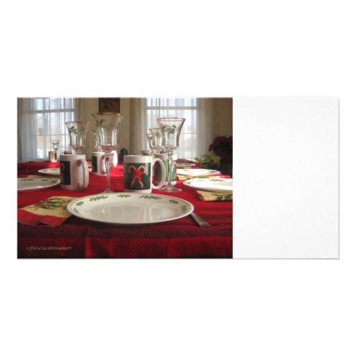 Christmas Table Photocard Photo Cards