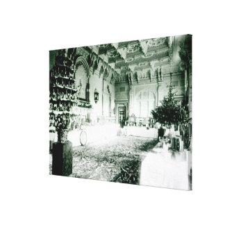 Christmas Tables in the Durbar Room Canvas Print