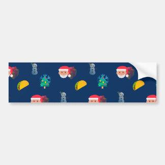 christmas taco emoji bumper sticker