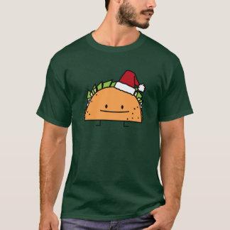 Christmas Taco with Santa Hat T-Shirt