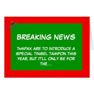 Christmas tampon greeting card