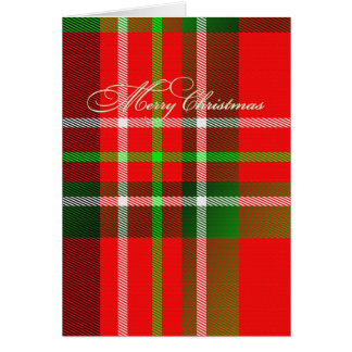 Christmas Tartan Card