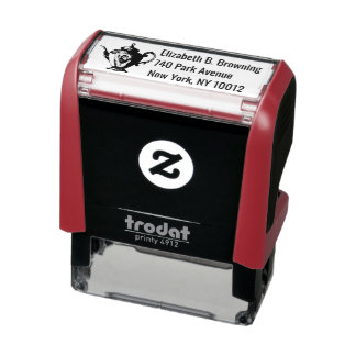 Christmas tea party self-inking stamp