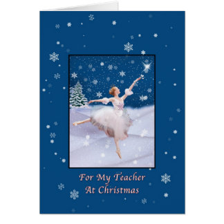 Christmas, Teacher, Snow Queen Ballerina Card
