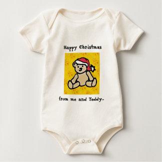 Christmas Teddy Baby Vest Baby Bodysuit